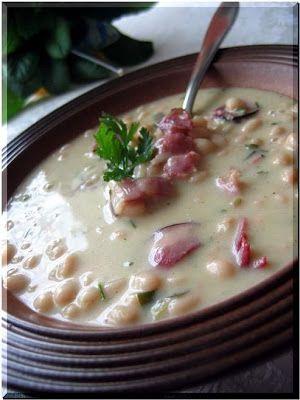 fazolová bílá polévka