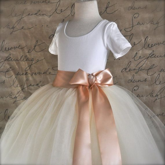 Blush and ivory Flower Girl tutu tulle by TutusChicOriginals
