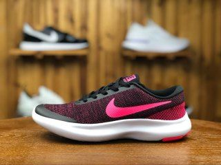 89ccb0958e2cc Womens Nike Flex Experience Rn 7 Casual Sneakers Black Racer Pink 908996 006
