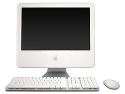 iMac G5 with an Apple Wireless Mouse (2004)