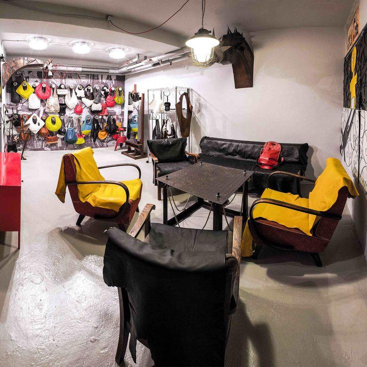 Showroom a ateli�r Franco Arazzi v protiatomov�m krytu