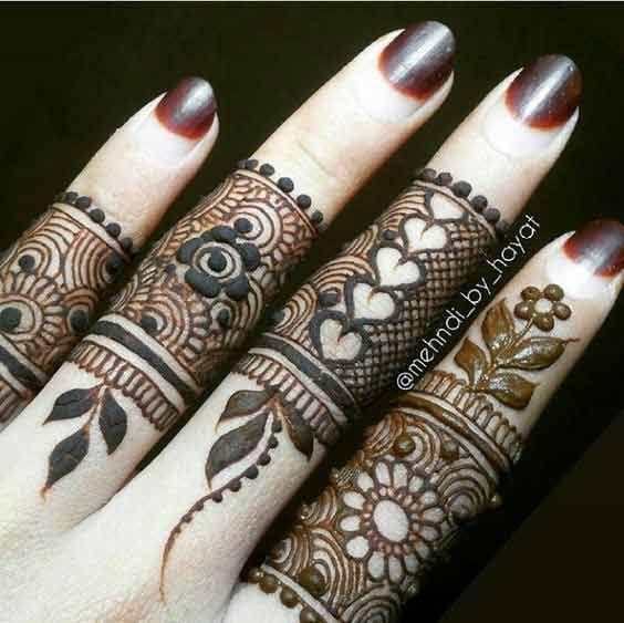 best aindian bridal mehndi latest finger mehndi designs 2017 new styles for hands