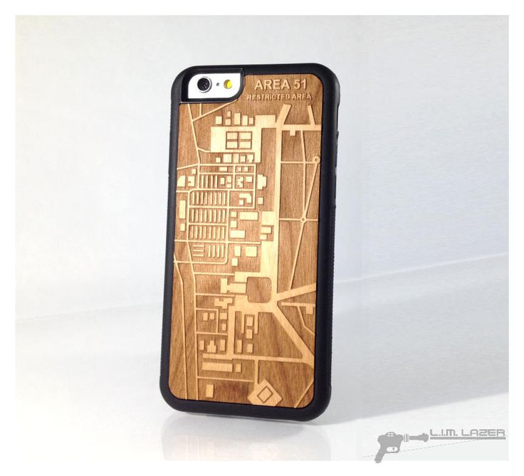 Area 51, Wood Map Phone Case for iPhone 7, Iphone 6, 5, SE, Custom Maps by LIMLazer on Etsy