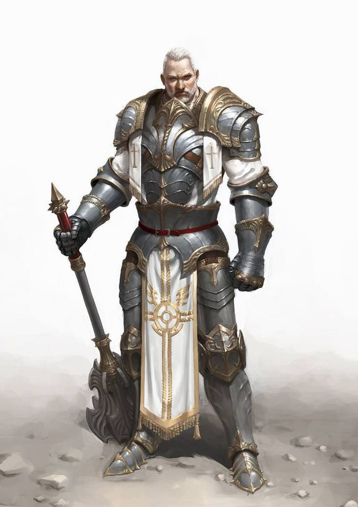 Dungeons & Dragons: Fighters, Paladins & Clerics I (inspirational) in 2020 | Fantasy character ...