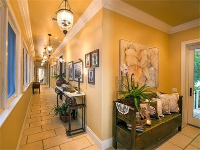 The Guest Wing Is Accessed From The 70 Ft. By 5 Ft. Wide Grand Gallery  Hallway With An Abundance Of Windows That Open To The Center Courtyard And  Koi Pond ...