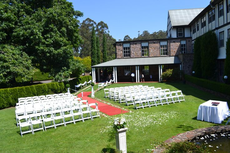 Photo of a top lawn ceremony at marybrooke manor