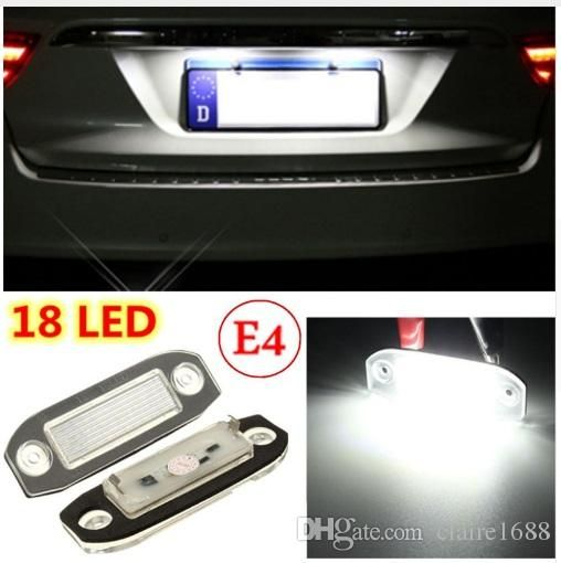 2Pcs 18 LED Licence Plate Light Number Lamp For Volvo S40 S60 S80 V50 XC60 XC70 XC90 V50 E-marked White - $20.99