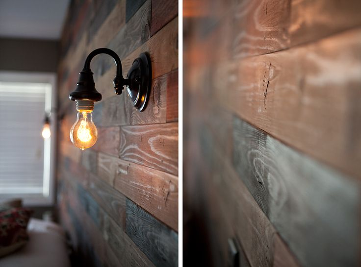 DIY~ How to make a Wood Plank Wall...like the idea of running some electricity up it before installing all the boards too.