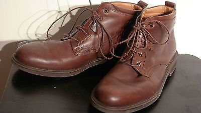 BOSTONIAN STRADA MEN'S LEATHER ANKLE BOOTS 9 MEDUIM BROWN