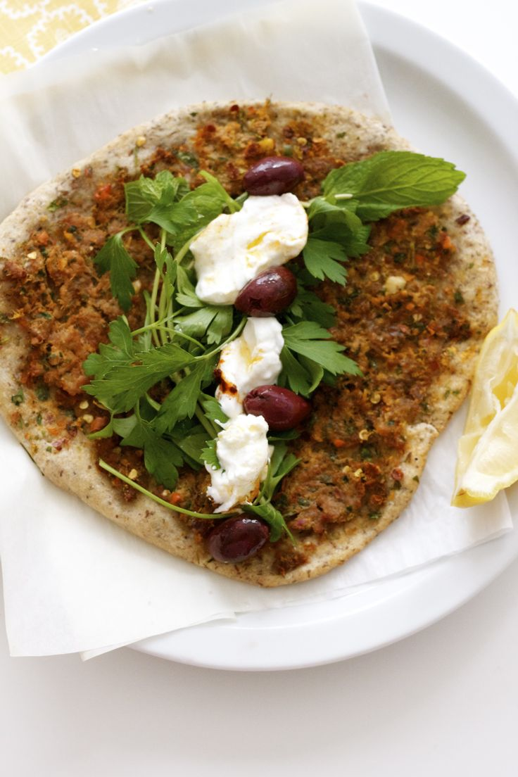 spicey meat Egyptian flat bread...get this recipe...for the love of yum
