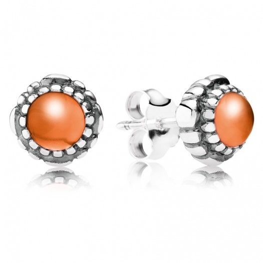 #PANDORA Carnelian July Birthstone Stud #Earrings are a perfect pick for her #Birthday falling in the summer month #July