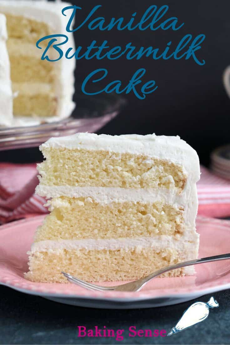 Vanilla Buttermilk Cake Recipe In 2020 Vanilla Cake Recipe Moist Vanilla Buttermilk Cake Easy Vanilla Cake Recipe