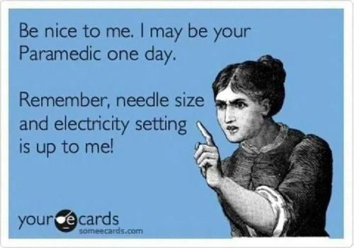 Needle size is up to me. I'm the phlebotomist, not you!