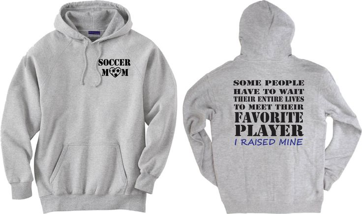 Soccer mom shirt.  Favorite Player.  Hoodie sweatshirt in white or gray. by PinkPigPrinting on Etsy
