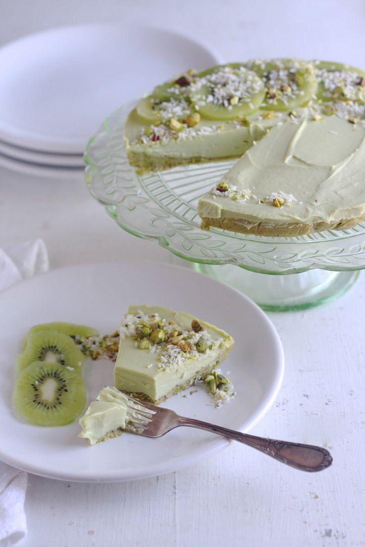 Lime Avocado Cheesecake | Raw, vegan, gluten free, dairy free | Natural Kitchen Adventures