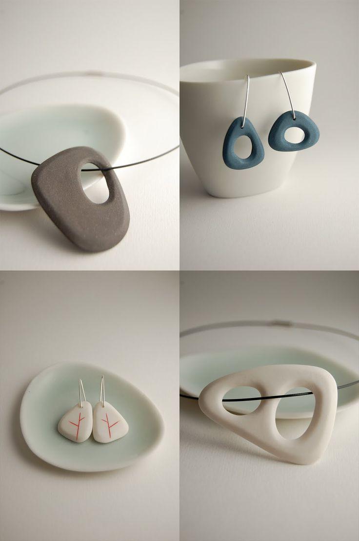 gostei da simplicidade / poppytalk handmade artists: Yasha Butler - Porcelain Jewelry
