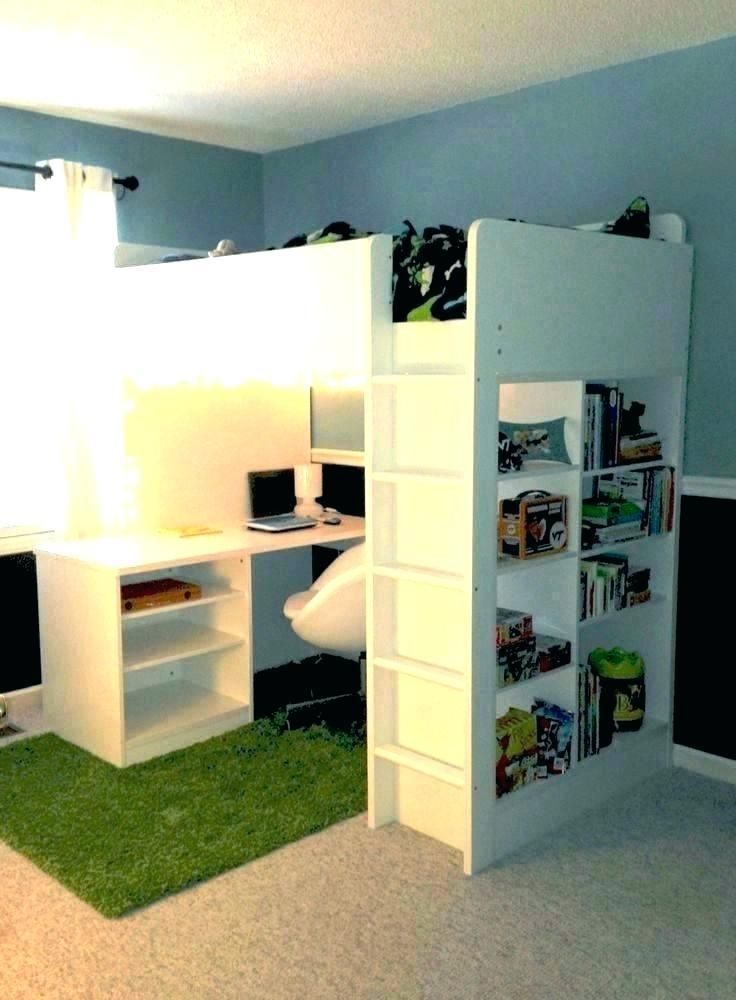 Size Bed With Desk Attached Loft