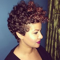 STYLIST FEATURE| Gorgeous curls ➰and #pixiecut ✂️done by #DMVStylist @HairAffair_With_Shay at @jbenespa salon❤️ Stunning #VoiceOfHair ========================= Go to VoiceOfHair.com ========================= Find hairstyles and hair tips! =========================