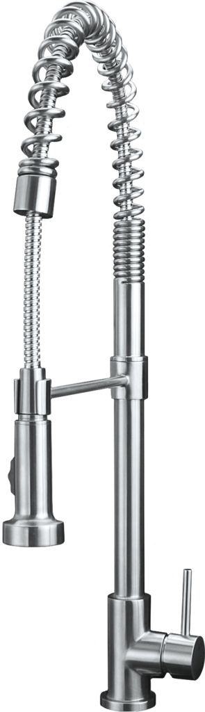Eclipse Stainless® Grifería Serie Profesional Modelo KS3031.  100% Acero Inoxidable.  Eclipse Stainless® Kitchen Faucet Mod. KS3031. 100% Stainless Steel. www.eclipsestainless.com.mx