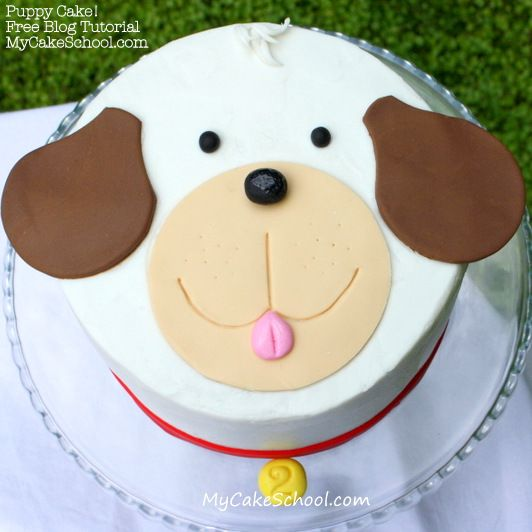 Learn how to make a sweet puppy cake in our free cake blog tutorial!