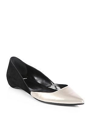Cheap Flights Pierre Hardy Suede Flats Black Embellished Ballet