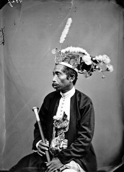 Indonesia, Sulawesi vintage ~ First minister of Buton. Buton people, Buton island.