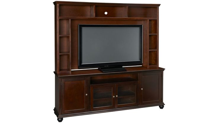 "Aspen - Casual Traditions - 76"" Console with Hutch - Entertainment Centers for Sale in MA, NH and RI at Jordan's Furniture"