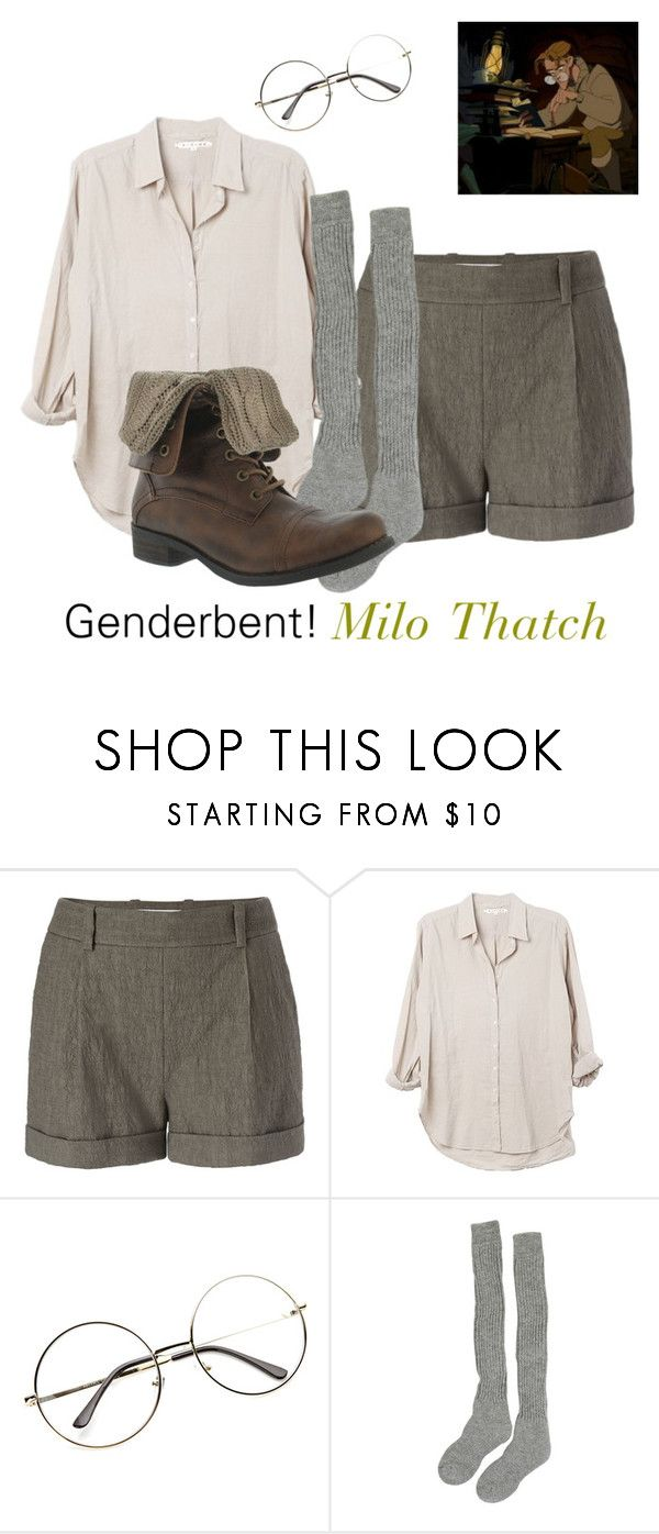 """Genderbent! Milo Thatch"" by anime-doctorwho-dork ❤ liked on Polyvore featuring Diane Von Furstenberg and Samantha Holmes"