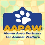 """AAPAW is a coalition of animal welfare organizations in the San Antonio area who have joined forces to help bring animal welfare organizations, veterinarians, and the community together in partnership to improve the lives of animals in the San Antonio area.  Consequently, AAPAW works closely and collaboratively with city officials, Animal Care Services, San Antonio Area Foundation, & others to support and carry out the City of San Antonio Animal Care Strategic Plan and the """"no kill"""" initiative.Cities Official, Aapaw Work, Antonio Community, Animal Care, Care Strategic, Bring Animal, Animal Welfare, Care Service, Antonio Area"""