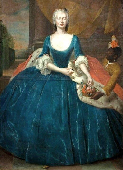 1746 Jacob Wessel (1710-1780) Portrait of Magdalena Radziwiłł nee Czapska.