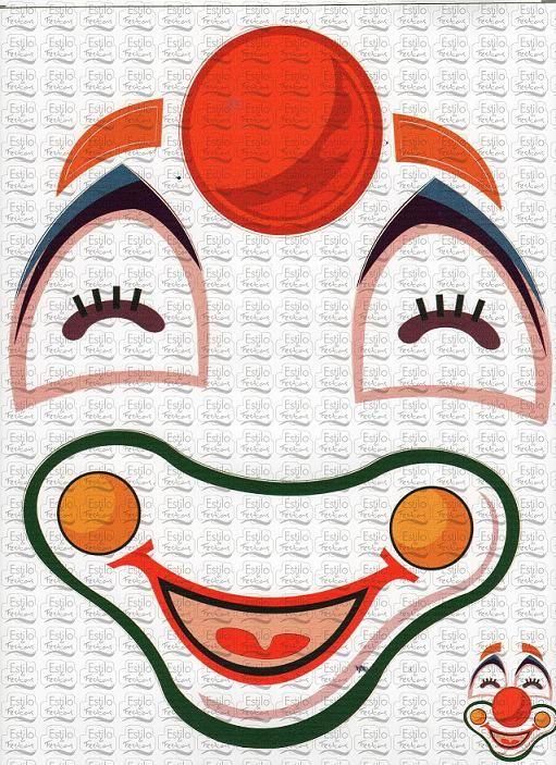 Artesanato Hippie Loja ~ Adesivo para bal u00e3o Cartela Cara de Palhaço Acessorios para Festas Estilo e Festas Tudo