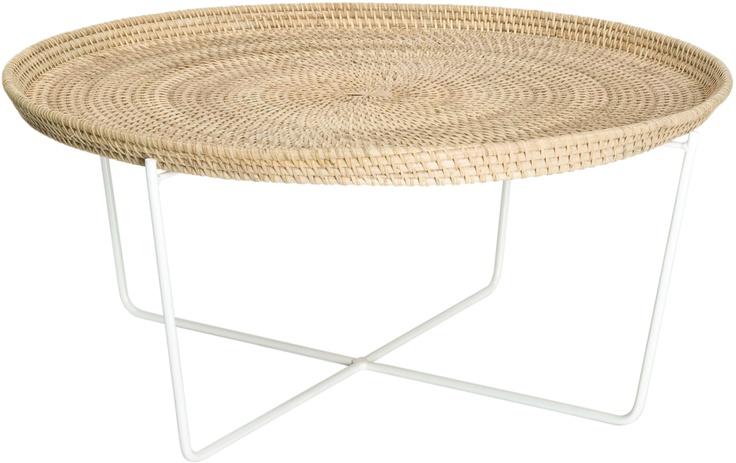 Immy - table basse en rotin(http://www.habitat.fr)