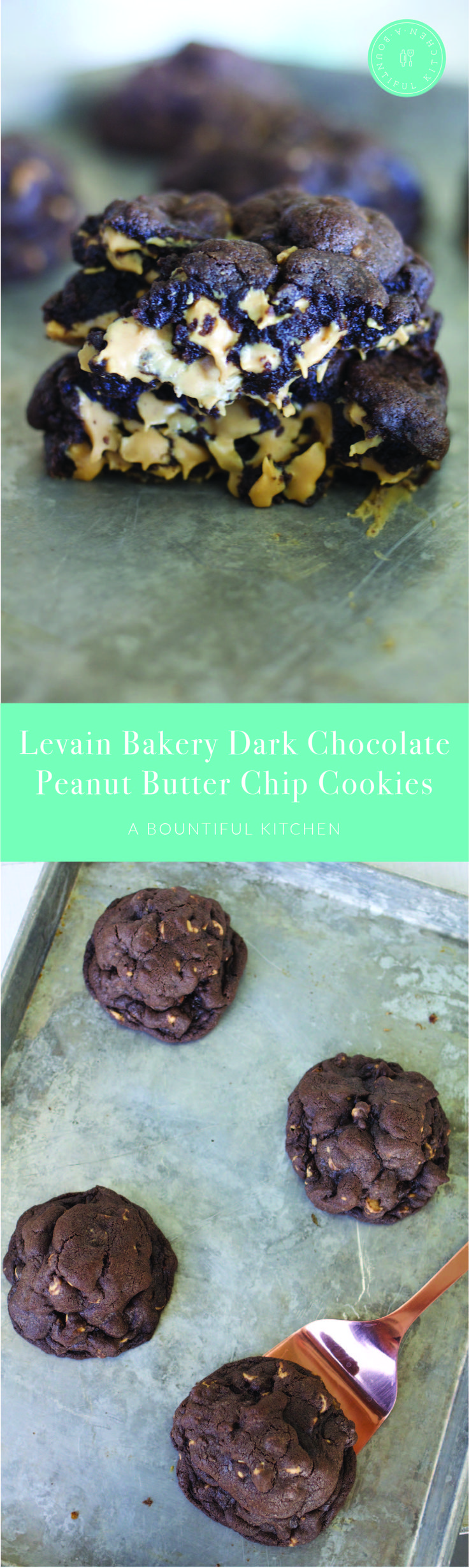 A Bountiful Kitchen: Levain Bakery Dark Chocolate Peanut Butter Chip Cookies are the most decadent peanut butter and chocolate lover's treat ever. Almost 1/2 lb of gooey, dark chocolate and peanut butter chips combined in to a cookie makes this one of the most sought after recipes on A Bountiful Kitchen! #chocolate #peanutbutter #cookies #levainbakery