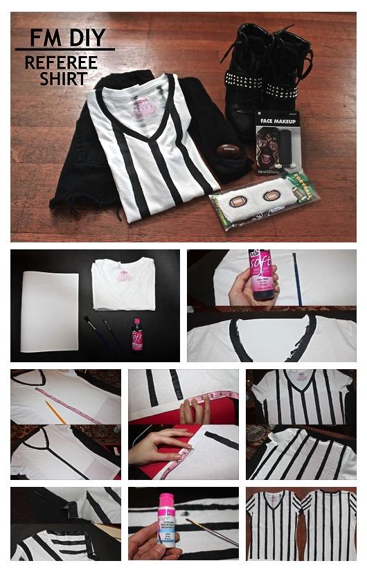 DIY Referee Shirt! Perfect for this upcoming Super Bowl game.