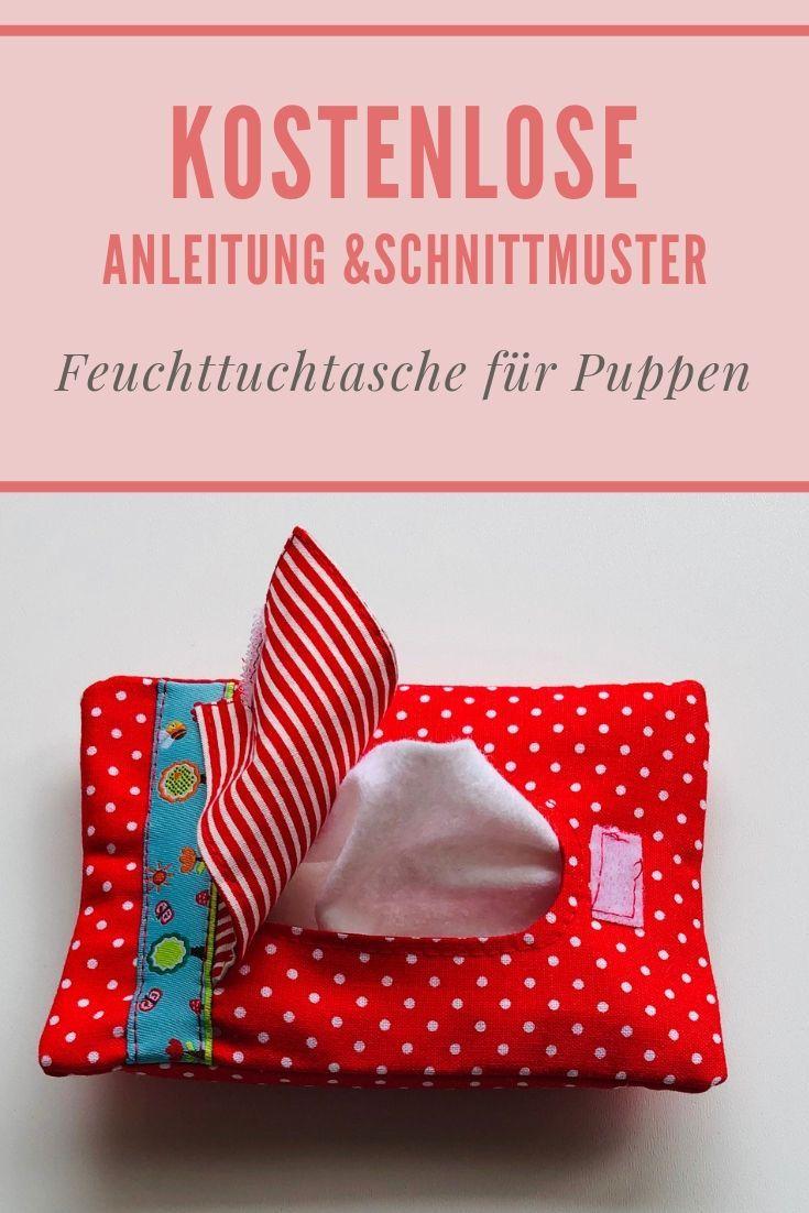 Kostenlose Anleitung und Anleitung für einen nassen Stoffbeutel für Puppen   – Nähen für Kinder