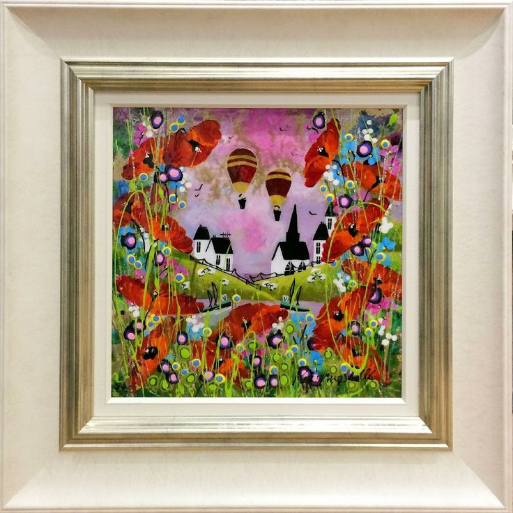 Through the Foliage - Roz Bell (Framed Mixed Media on Board) - £588.00