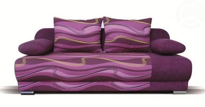 Futon - fialová vlnky | Nábytek ATAN