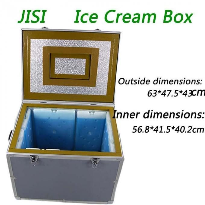 Large 95l Plastic Pu Insulation Ice Box Cooler For Ice Cream Storage Keepfresh Icepack Storage Cool Cooler Trans In 2020 Packing A Cooler Ice Box Large Cooler