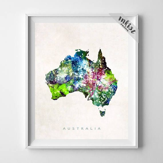 Watercolor map prints 10 handpicked ideas to discover in home decor Home decor wall decor australia