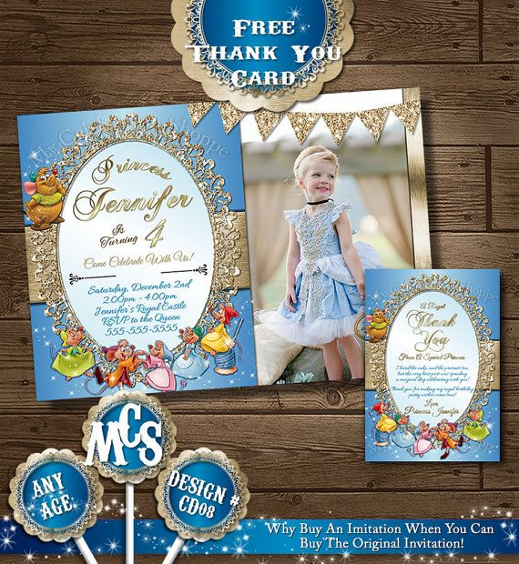 CINDERELLA INVITATIONS Princess Invitation by MyCelebrationShoppe