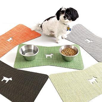 Bone Shaped Placemat Dog Food Mat Dog Bowls Pet Mat
