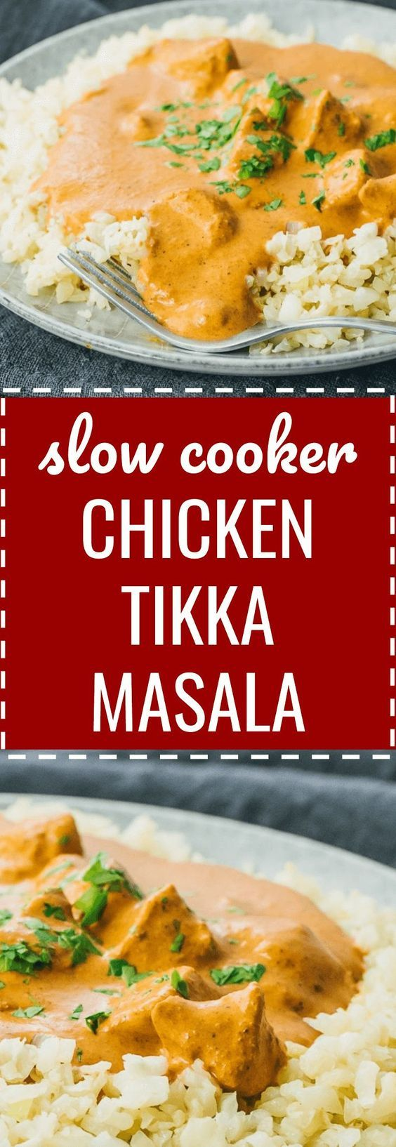 A homemade restaurant-quality version of chicken tikka masala using the slow cooker. crockpot / indian dishes / crock pot / families / weeknight dinners / comfort foods / rice / spices / curries / keto / low carb / diet / atkins / induction / meals / recipes / easy / dinner / lunch / foods / healthy / gluten free / paleo / meal planning / super bowl / clean eating / ideas / authentic / best / trader joes / sauce / light #indian #chicken #lowcarb via @savory_tooth