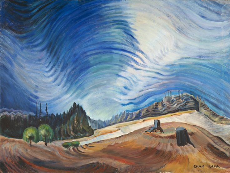 Emily Carr - 1937 - Above the Gravel Pit. I really like the sky in this one.