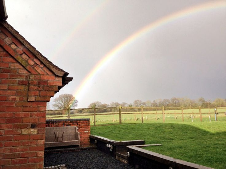 Double rainbow shot from The Coach House | Our ...