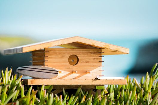 These Modernist Birdhouses are Inspired by Famous Architects,Kauai House Birdhouse. Image via Sourgrassbuilt.com
