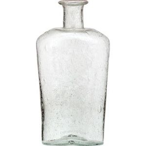 clear recycled glass vase wholesale flask design 2 inches wide by 525