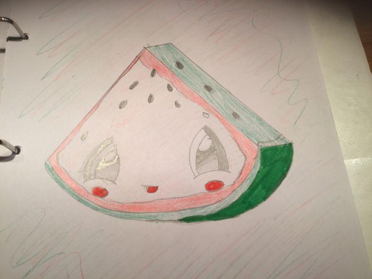Dit is een schattige watermeloen!!!
