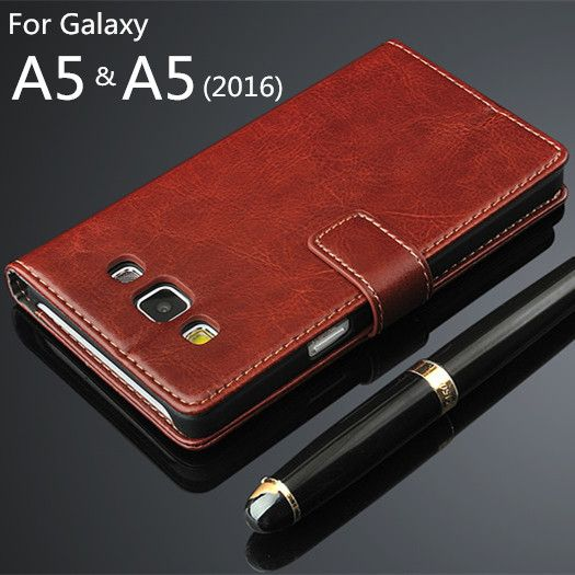 For Fundas Samsung A5 High Quality Flip Cover Magnetic Holster PU Leather phone case For Samsung Galaxy A5 2016 A510F A5100