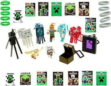 Ultimate Minecraft Gift Set ~ 14 Stickers ~10 Wristbands ~ Complete Set Series 2 Hangers by Minecraf