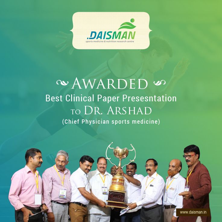Best clinical paper presesntation award to Dr. Arshad